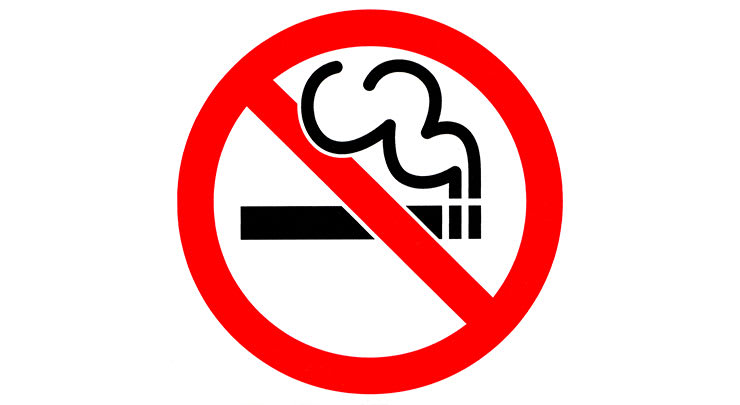 No smoking sign before gynecomastia surgery.