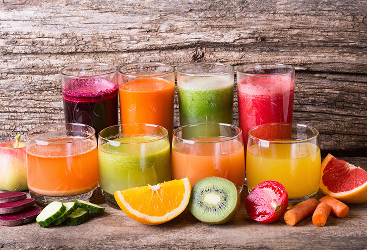 Fresh pressed juices for otoplasty recovery diet.