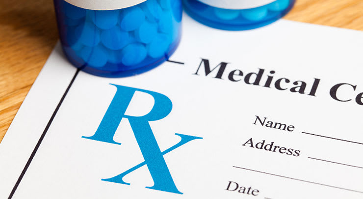 Medication and prescription form for otoplasty surgery.