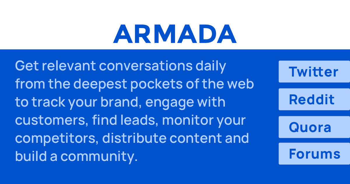 Make your brand a talking point   Armada