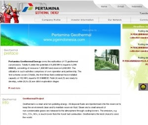 Pertamina plans to raise US$300m for geothermal development