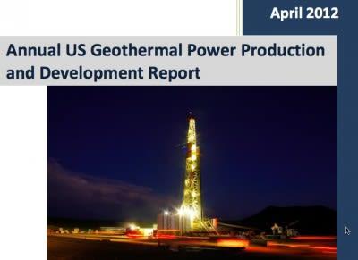 GEA releases US Geothermal Market Update April 2012