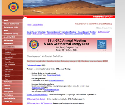 Final Program for GRC Annual Meeting and GEA Expo released