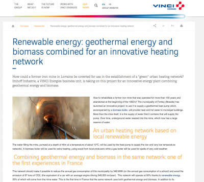 Innovative plant to combine geothermal and biomass for heating in France