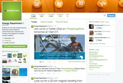 US DOE to start Twitter Chat on Energy Development for Africa