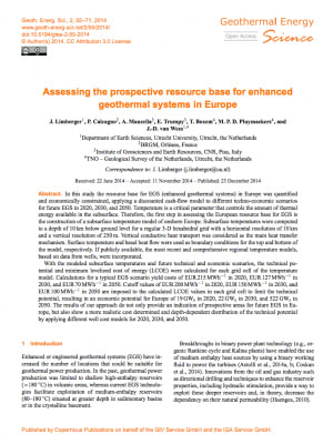 Assessment of prospective resource base for EGS in Europe