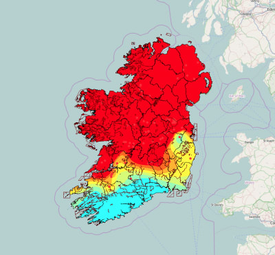 Geothermal Mapping System in Ireland