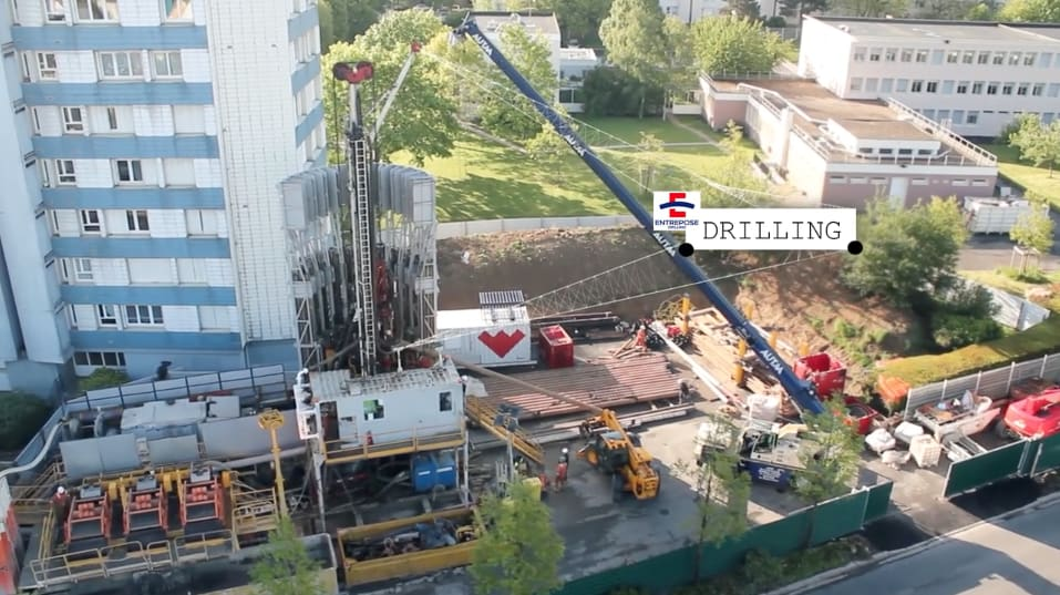 Great video from drilling a geothermal resource in a city in France
