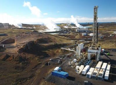 HS Orka preparing for drilling of wells at geothermal site of Eldvörp, Iceland