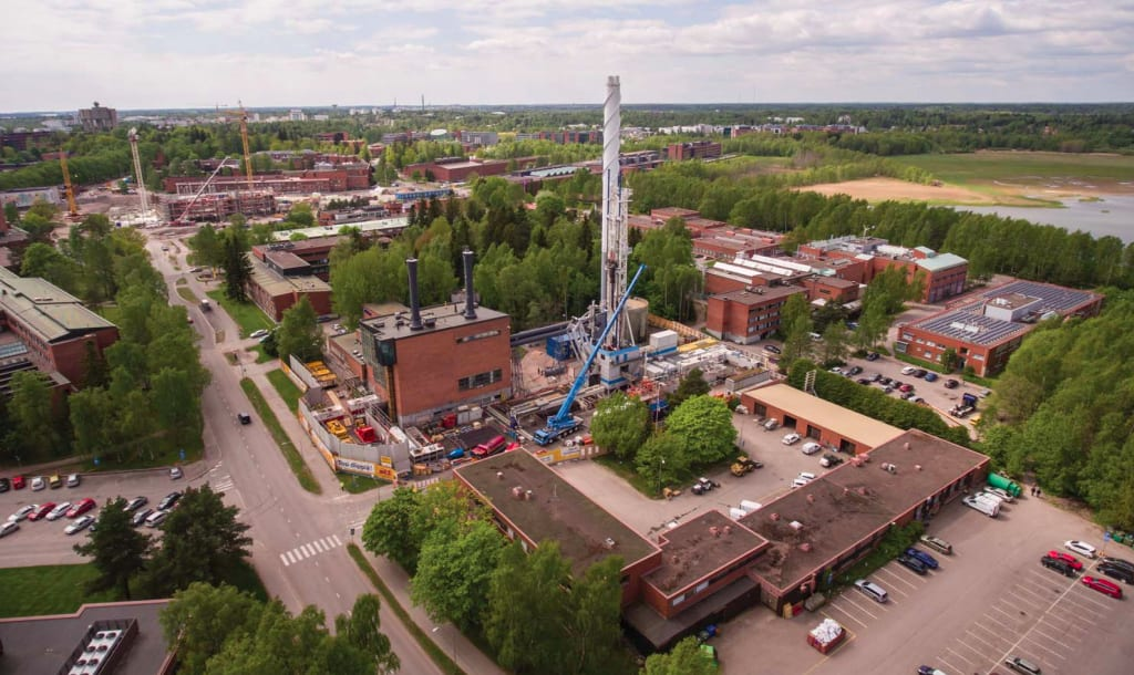 With wells finalised, St1 moves on to building the geothermal heating plant