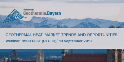 Webinar: Geothermal Heat Market Trends & Opportunities, Sept 19, 2018