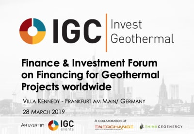 IGC Invest Geothermal Forum, 28 March 2019 – Program & Early Bird Registration
