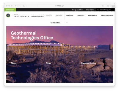 Job – Engineer/ physical scientist, Geothermal Technologies Office, U.S. DOE
