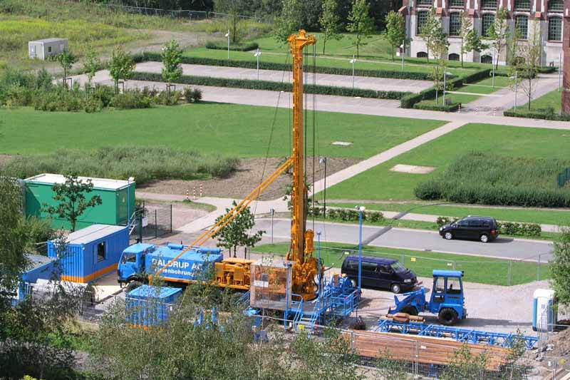 Geothermal heat project in Schwerin/ Germany preparing drilling of second well