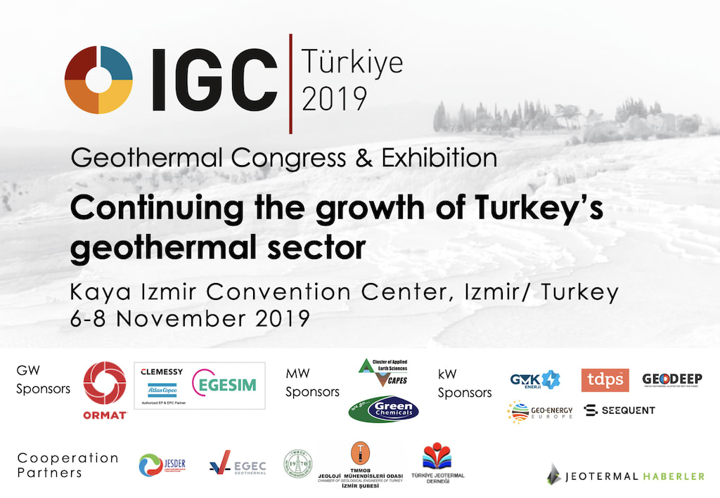 Program released – IGC Turkey Geothermal Congress 6-8 Nov. 2019