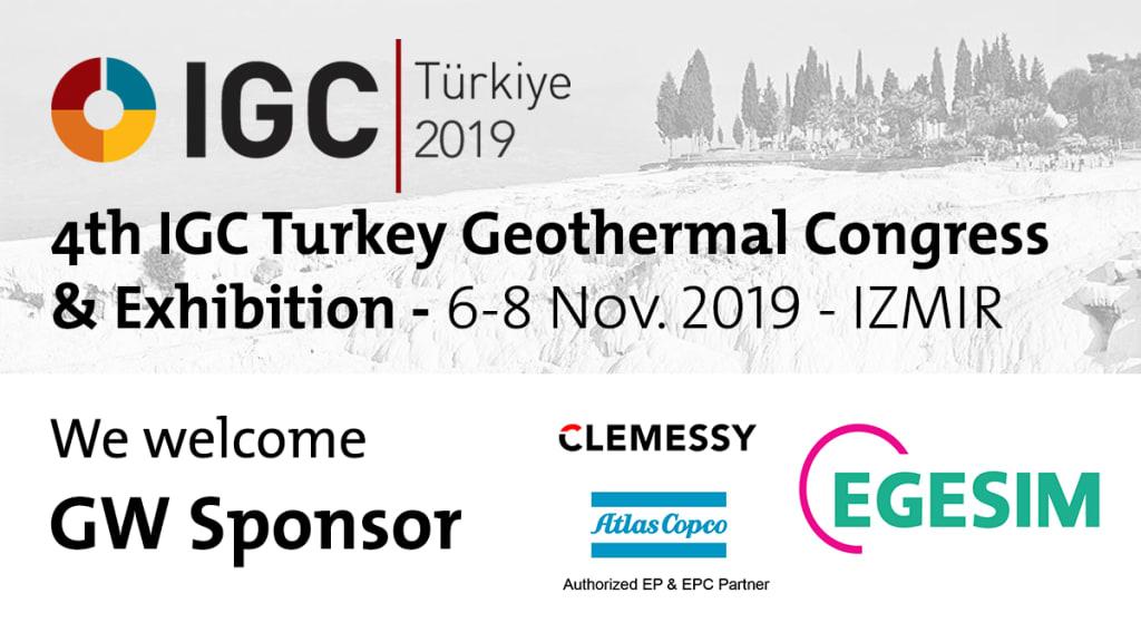 EGESIM, Atlas Copco & Clemessy join IGC Turkey Geothermal Congress, Nov. 2019