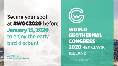 Less than 4 months away – World Geothermal Congress 2020 in Reykjavik, Iceland