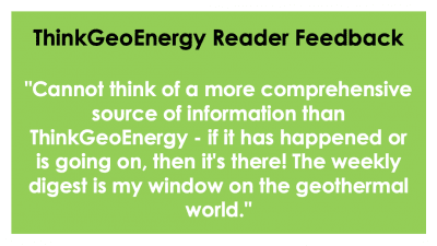Readership survey highlights ThinkGeoEnergy's important role for the geothermal community