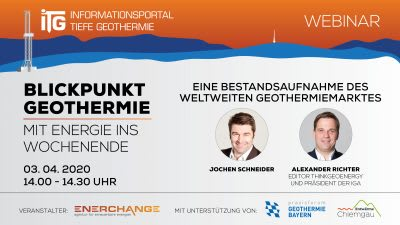 Webinar – What is going on in geothermal globally (in German) – April 3, 2020