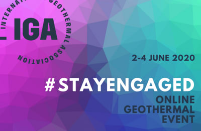 Stay Engaged – IGA Geothermal Online Event, June 2-4, 2020