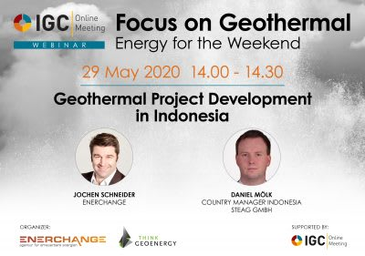 Webinar – Geothermal Project Development in Indonesia, 29 May 2020