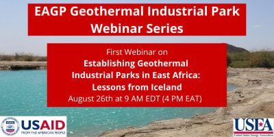 Establishing geothermal industrial parks in East Africa – lessons from Iceland, Aug. 26, 2020