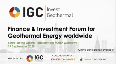 IGC Invest Geothermal, Frankfurt/ Germany & Online – September 17, 2020