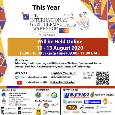 ITB Bandung Int'l Geothermal Workshop Webinar, August 10-13, 2020