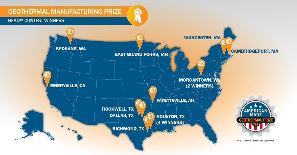 Winners announced for American-Made Geothermal Manufacturing Prize Ready!