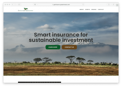 New website for the GeoFutures Greeninvest insurance facility has been launched