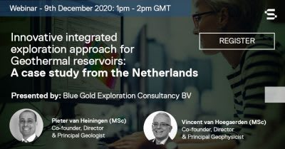 Webinar – Innovative integrated exploration approach for geothermal, Dec. 9, 2020
