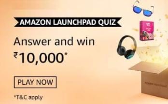 Amazon Launchpad Quiz Win Rs 10000
