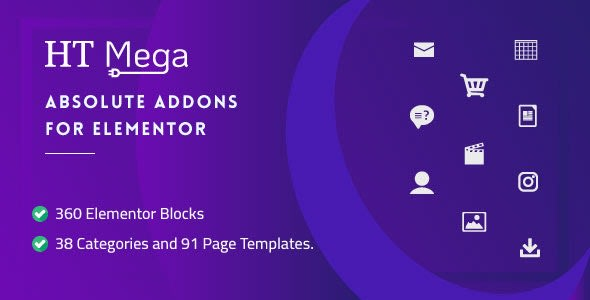 HT Mega Pro 1.2.8 (New) - Absolute Addons for Elementor Page Builder