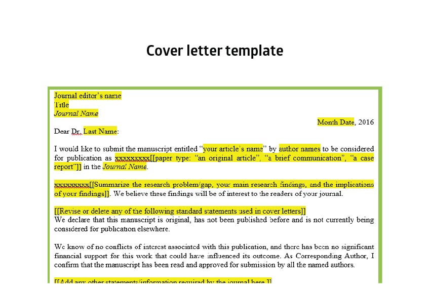 Writing effective cover letters for journal submissions