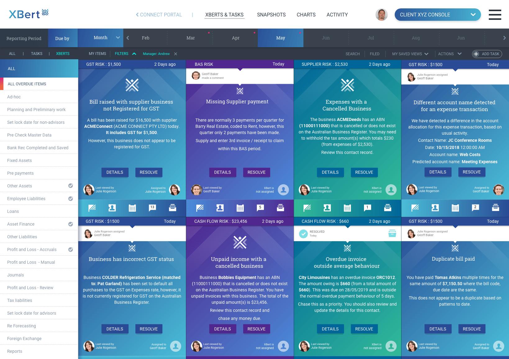 xbert - client view