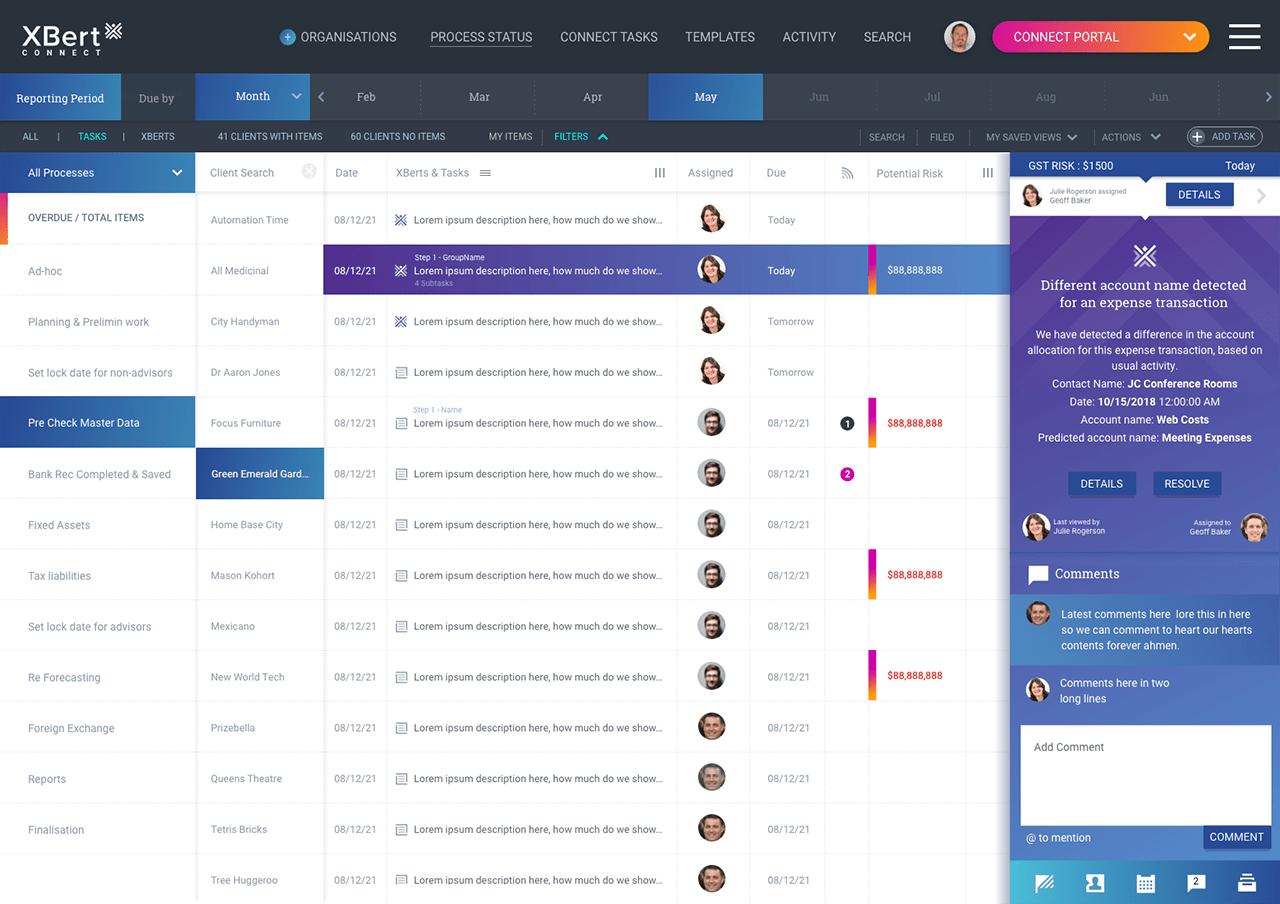 xbert - client list view