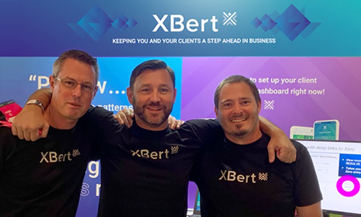 XBert founders Steven Ayers, Aaron Wittman and Troy Brown at Xerocon 2019 in Brisbane. Stay a step ahead in business with XBert.
