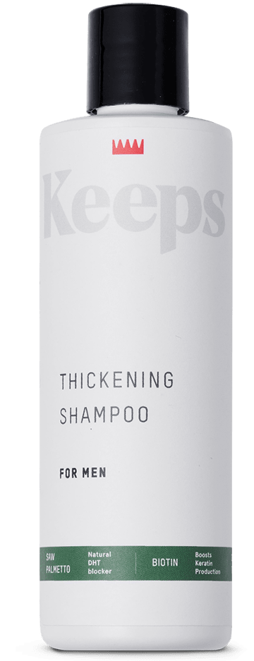 Keeps branded thickening shampoo