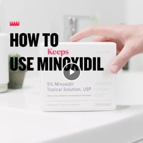 How to use minoxidil
