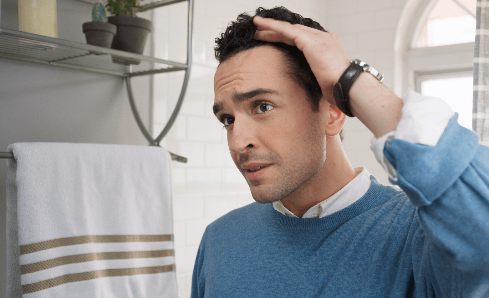 How to cure hair fall in men