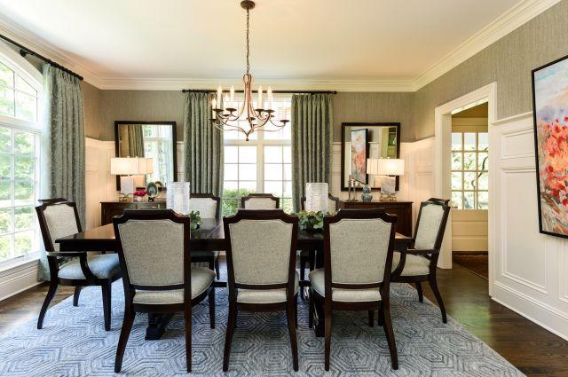 MJM Interiors - Lake Bluff Dining Room