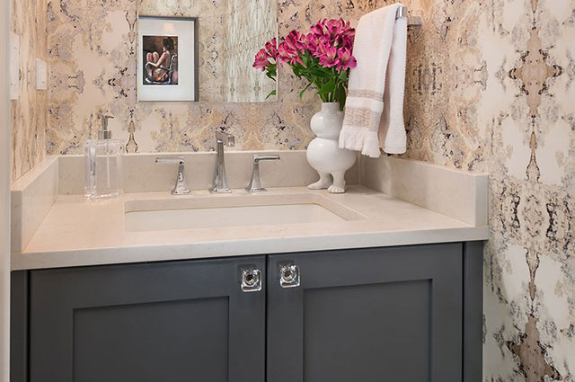 MJM Interiors - Powder Room