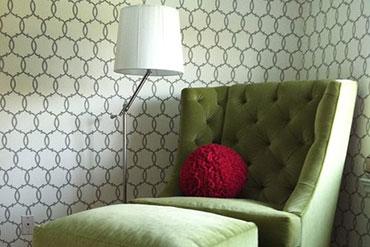 MJM Interiors - Transitional Living Room