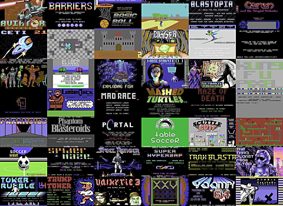 BEST NEW, FREE C64 GAMES OF 2018 - VOTING | thec64community