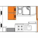 Australian Discovery Campervan Night Floorplan
