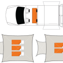 Australian Outback Campervan Night Floorplan