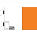 Australian Scout Campervan Night Floorplan