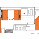 Australian Explorer Campervan Night Floorplan