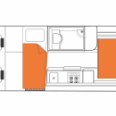 Australian Venturer Plus Campervan Night Floorplan