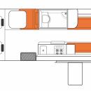 Australian Venturer Campervan Day Floorplan